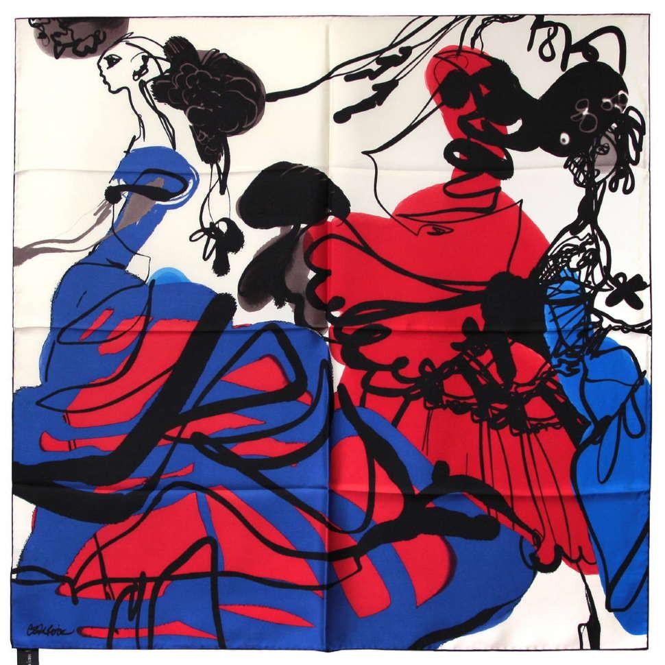 Яркий контрастный женский платок Christian Lacroix 56485