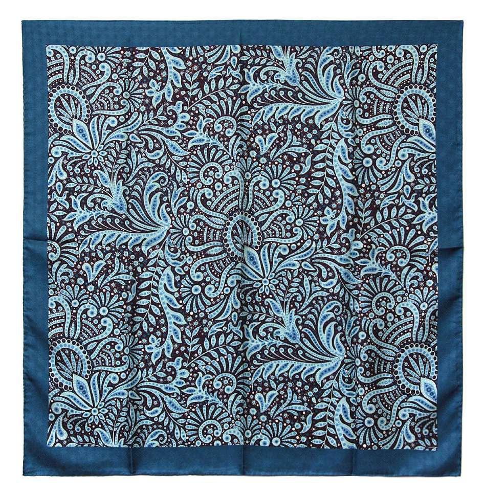 Красивый платок в синих тонах Club Seta 30355