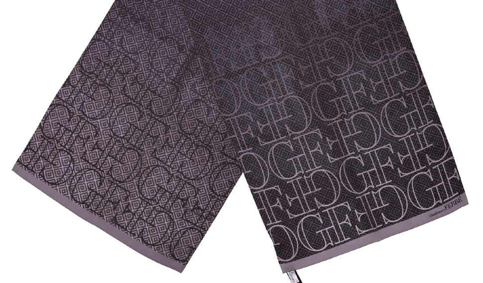 Черно-серый женский палантин Gian Franco Ferre 10480