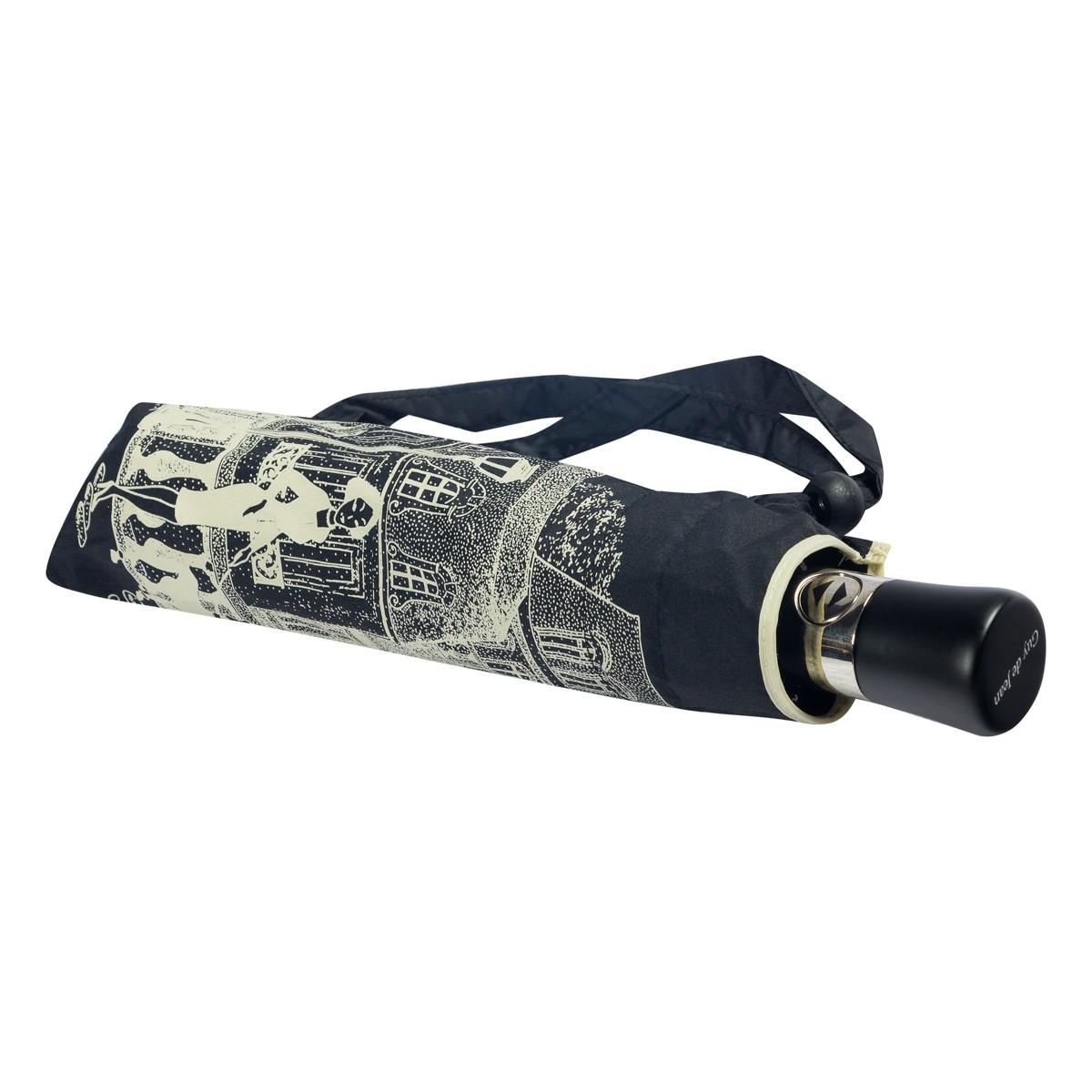 Зонт складной женский Guy De Jean 3405-OCA Paris Noir