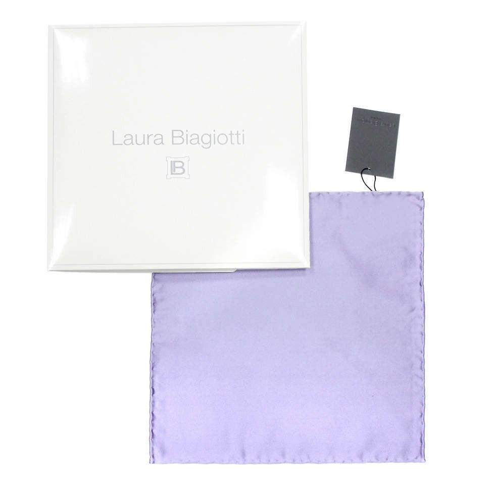Светло-фиолетовый карманный платок из шелка Laura Biagiotti 821404
