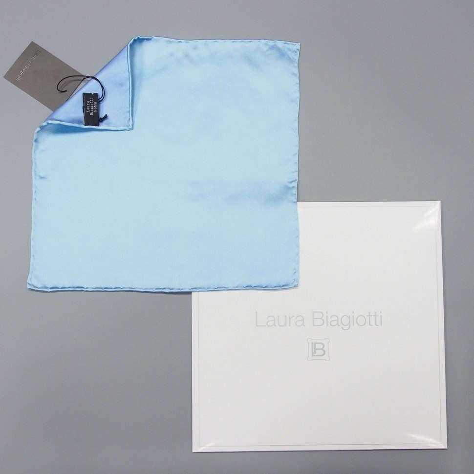 Небесно-голубой карманный платок Laura Biagiotti 828766