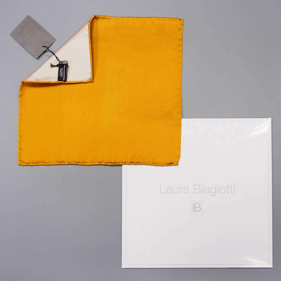 Апельсинового цвета карманный платок Laura Biagiotti 828767