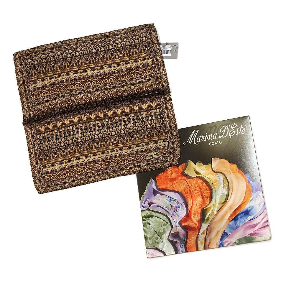 Модный мужской платок в карман пиджака в коричневых тонах Marina DEste 818473