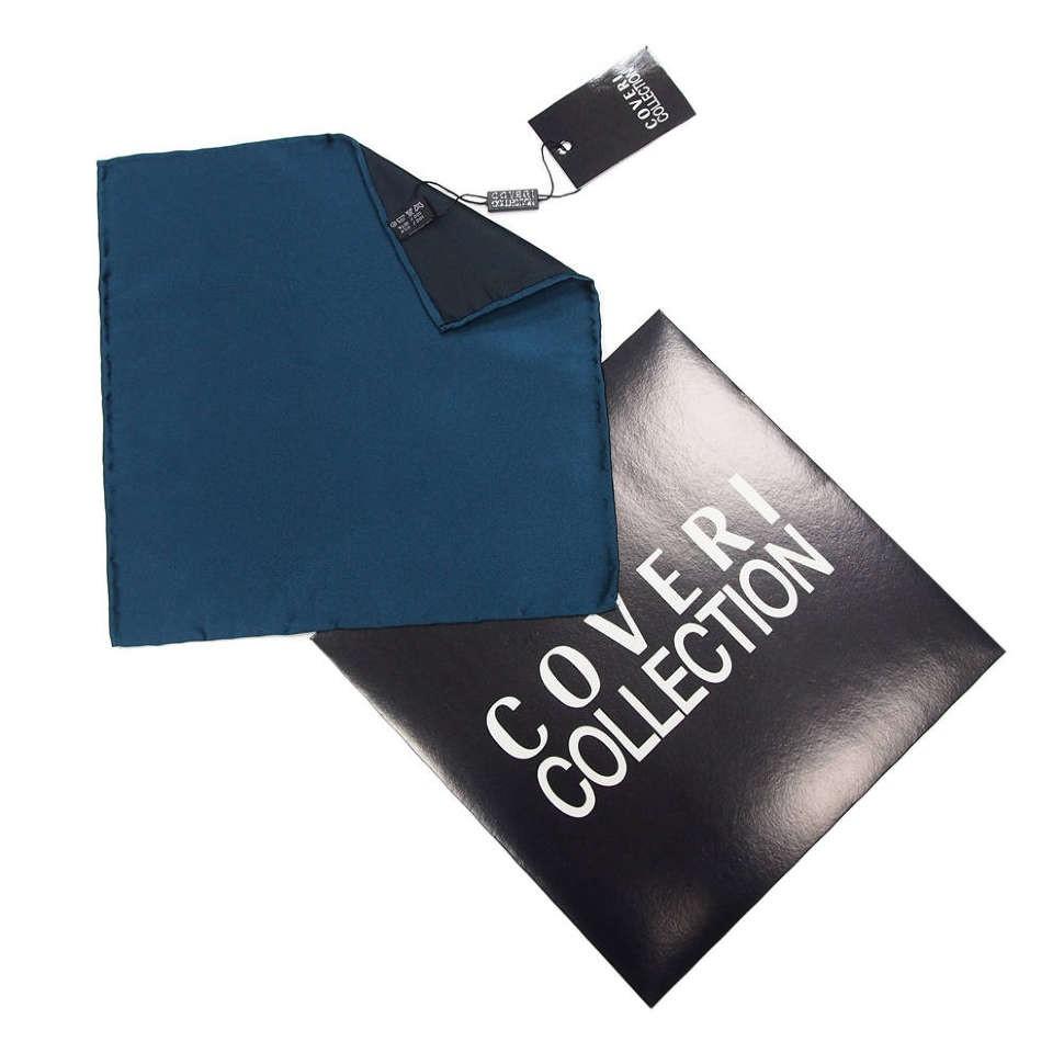 Карманный платок цвета ультрамарин Coveri Collection 812308